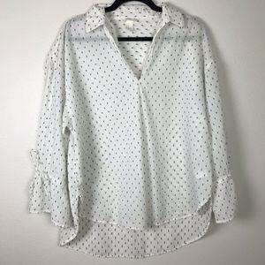 H&M Bell Sleeve Polka Dot Tunic